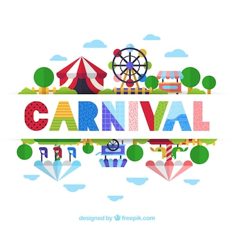 Flat carnival background