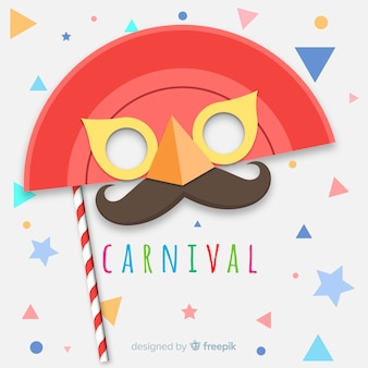 Flat carnival background