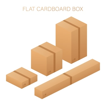 Flat carton box set