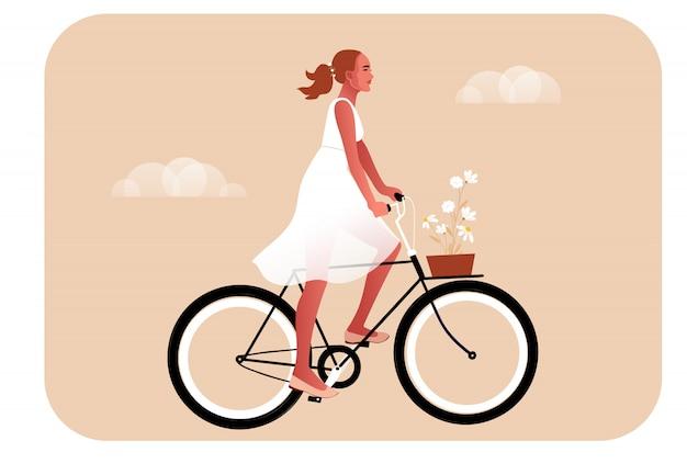 Flat cartoon in pastel colors illustration.