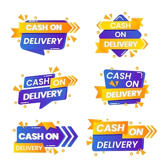 Flat cash on delivery - badge collection