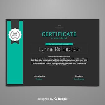 Шаблон плоского сертификата