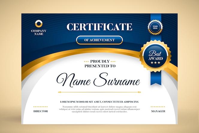 Flat certificate template