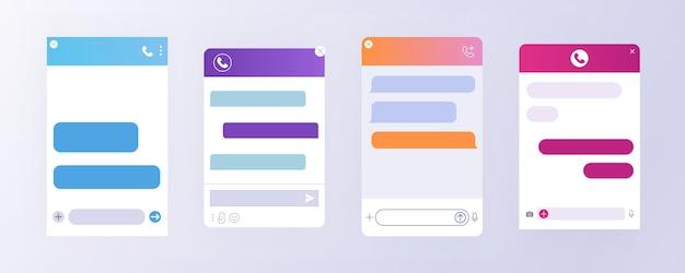 고객 지원을 위한 플랫 채팅 봇 대화 창.