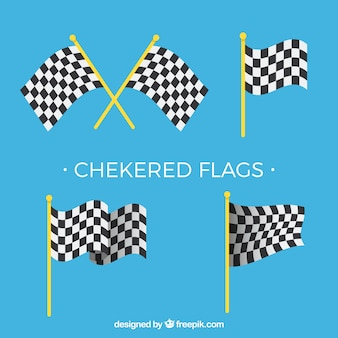 Flat checkered flag collection