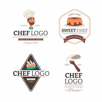 フラットシェフのロゴコレクション