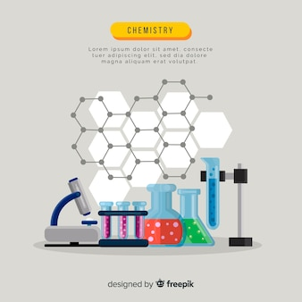Flat chemistry background template