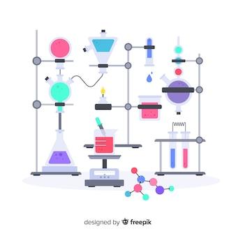 플랫 화학 배경