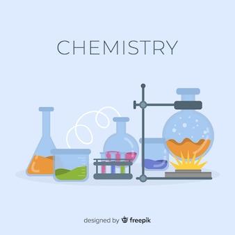 Sfondo di chimica piatta