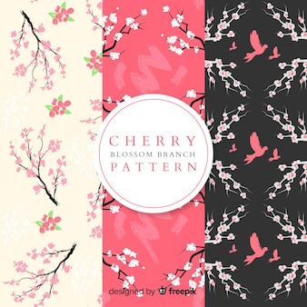 Flat cherry blossom pattern