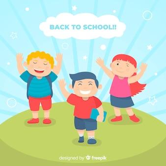 Flat children back to school
