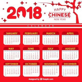 Flat chinese new year calendar
