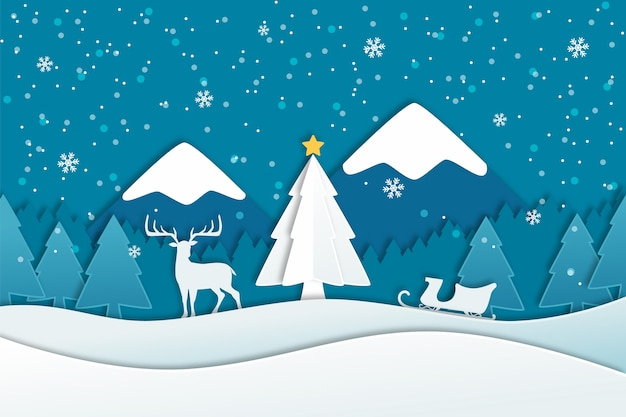 Flat christmas background