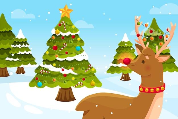 Flat christmas background