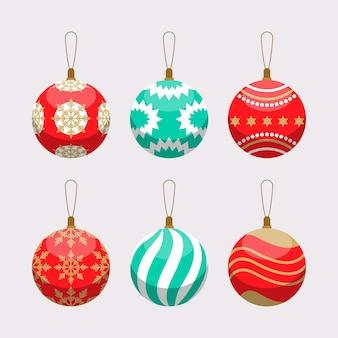 Flat christmas ball ornaments