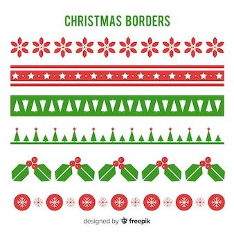Flat christmas borders pack