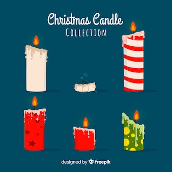 Flat christmas candle pack