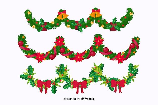 Flat christmas concept decoration