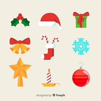 Flat christmas decoration concept