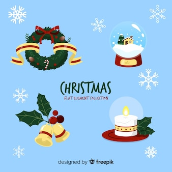 Flat christmas decoration