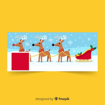 Flat christmas facebook banners