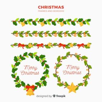 Рамка для рождественских фонов и границ