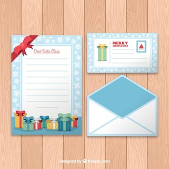 플랫 크리스마스 편지 서식 파일