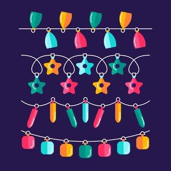 Flat christmas lights collection