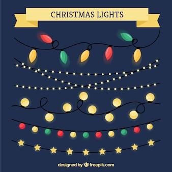 Flat christmas lights