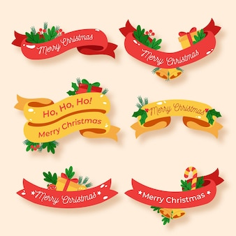 Flat christmas ribbon collection
