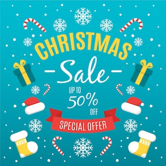 Flat christmas sale and gift boxes and clothes