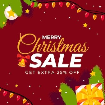 Flat christmas sale template