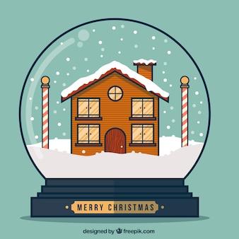 Piatto di natale snow globe