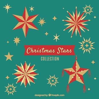 Flat christmas stars collection