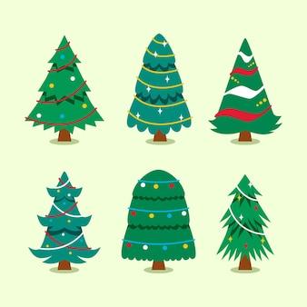 Flat christmas tree collection