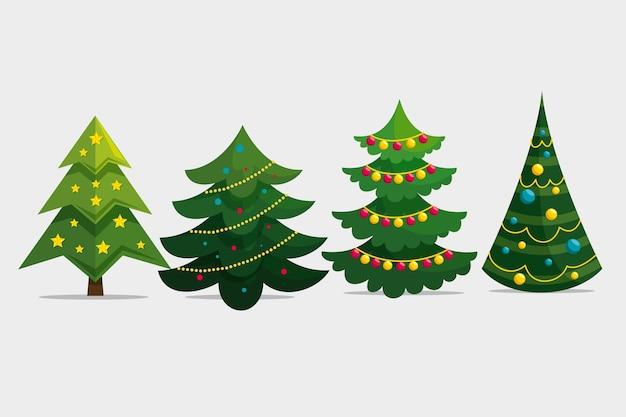 Flat christmas tree variety pack