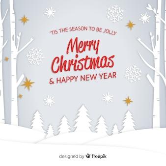 평면 크리스마스 나무 배경