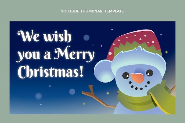 Flat christmas youtube thumbnail