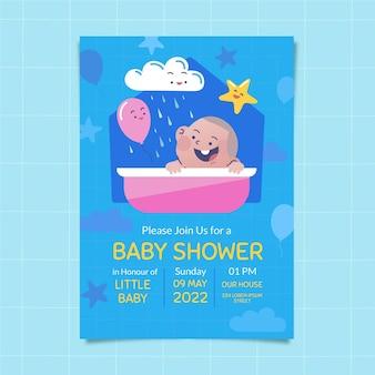 Flat chuva de 사랑 베이비 샤워 카드