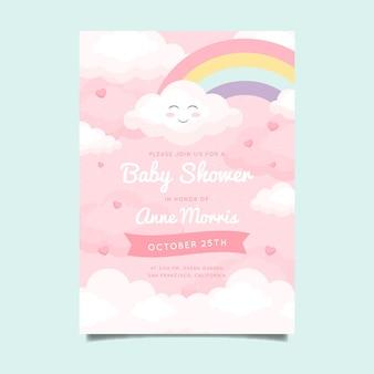 Invito per baby shower piatto chuva de amor
