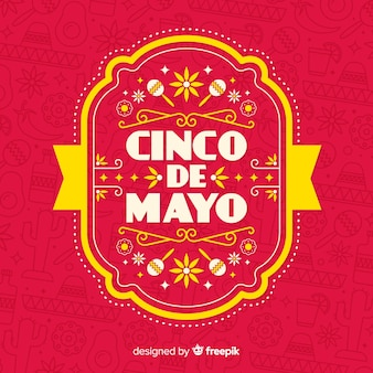 Flat cinco de mayo background