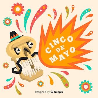 Плоский фон синко де майо