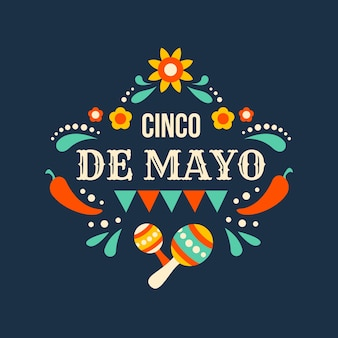 Flat cinco de mayo event background