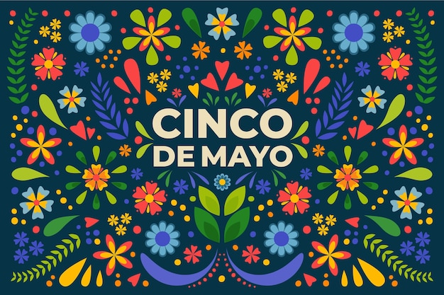 Flat cinco de mayo illustration