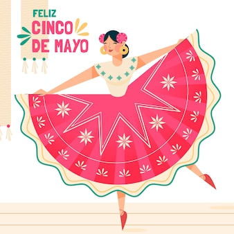 Flat cinco de mayo illustration