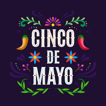 Illustrazione piana di cinco de mayo