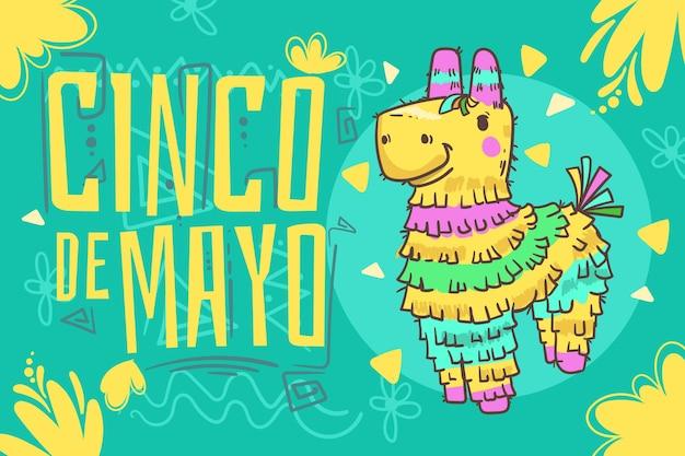 Fondo messicano piatto cinco de mayo