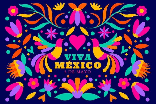 Flat cinco de mayo mexican background