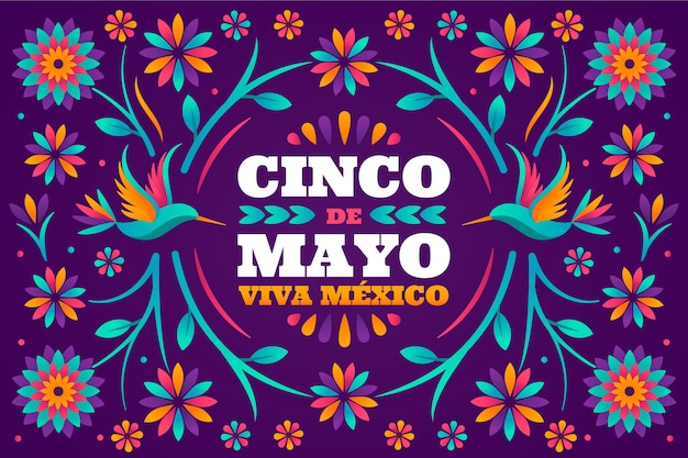 Flat cinco de mayo mexican background