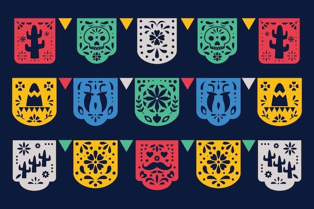 Плоский мексиканский декор синко де майо